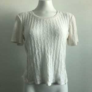 Pure + Good | Anthropologie | Texture knit top |XS